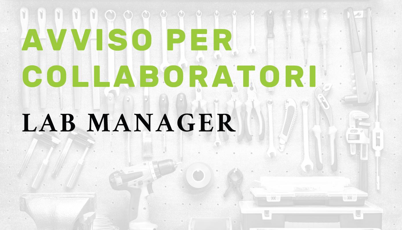 Avviso per collaboratori: Lab manager