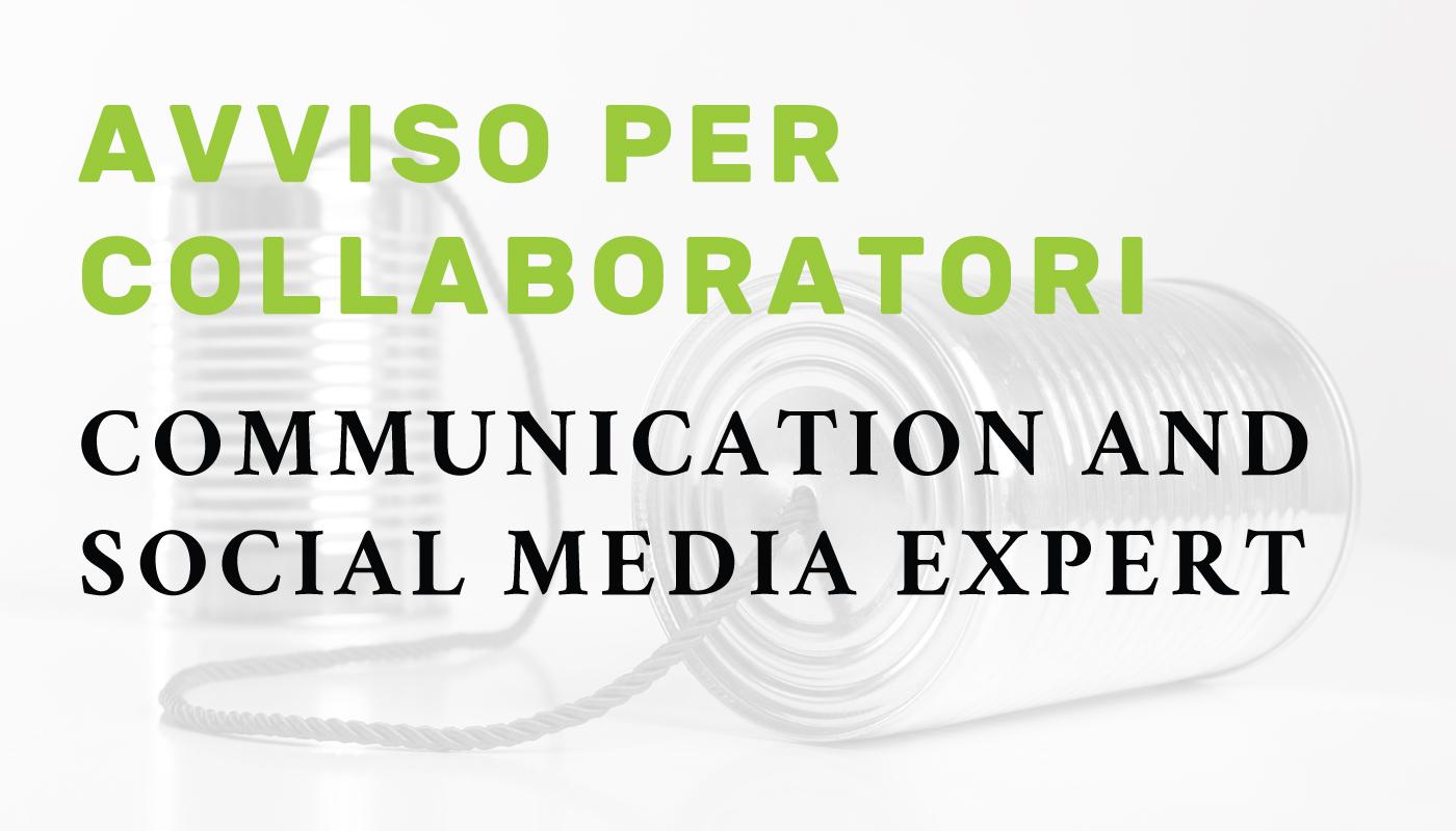 Avviso per collaboratori: Communication and social media expert