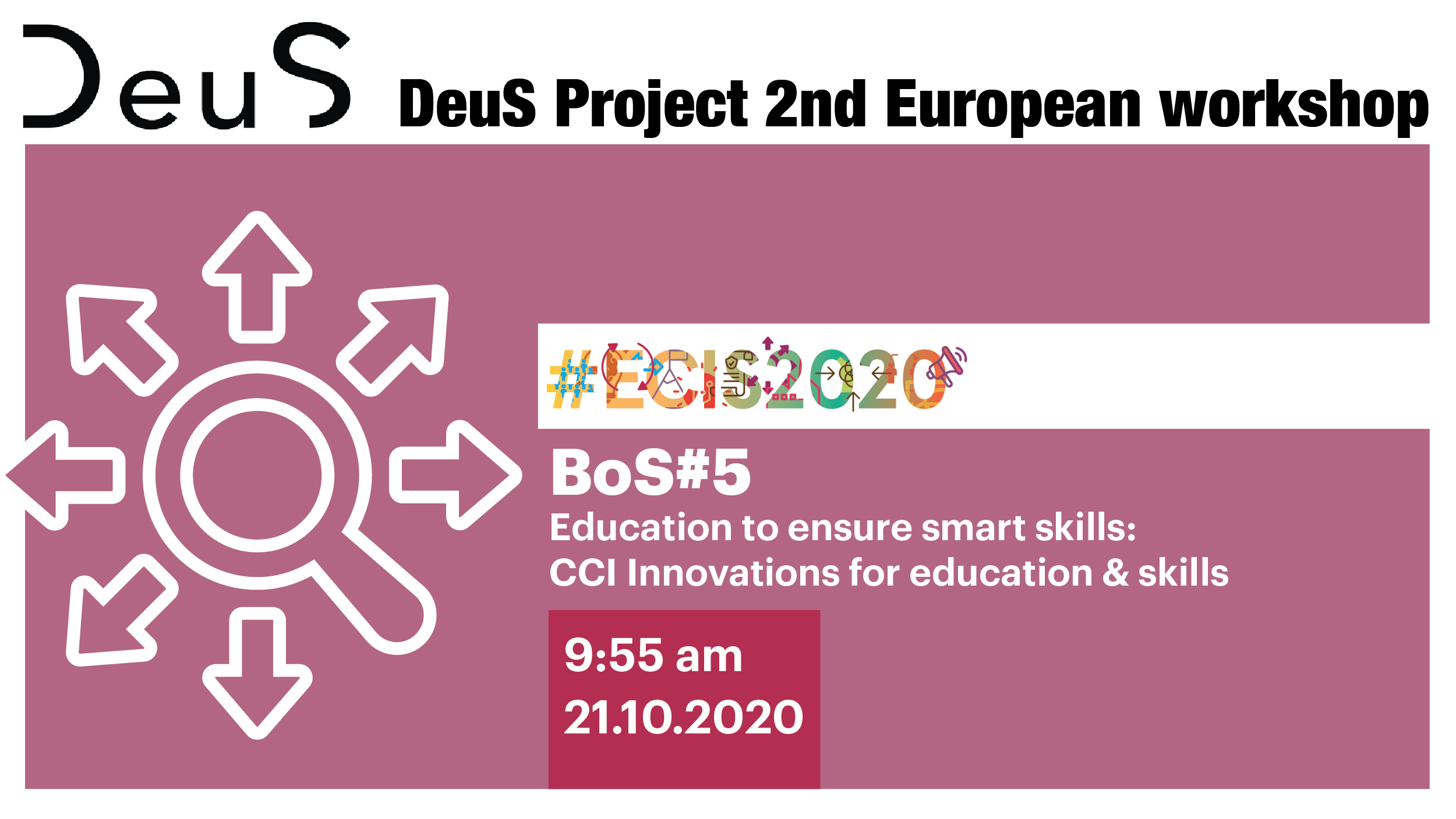 The DeuS project at the European Creative Industries Summit - #ECIS2020